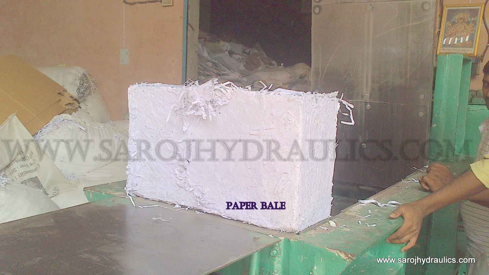 paper baling machine